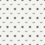 Hand drawn seamless pattern with open and close eyes. Wrapping paper. Abstract vector background. Casual texture Royalty Free Stock Images