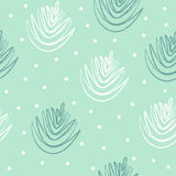 Hand drawn seamless pattern. Or pine cone Royalty Free Stock Images