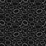 Hand drawn seamless pattern of speech bubbles Stock Photo
