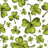 Hand drawn seamless pattern with St. Patrick's day elements. Vector sketch illustration.  Royalty Free Stock Photo