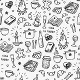 Hand drawn seamless pattern. Time to Hygge Stock Photo