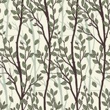 Seamless pattern of tree branches Stock Photos