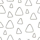 Hand drawn seamless pattern with triangles Royalty Free Stock Image