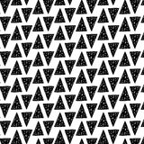 Hand drawn seamless pattern with triangles stock illustration