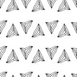Hand drawn seamless pattern with unusual triangles Stock Photography