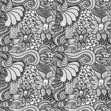 Hand drawn seamless pattern Stock Photos