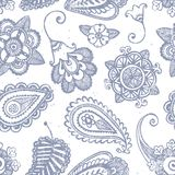 Hand-drawn seamless pattern Royalty Free Stock Images