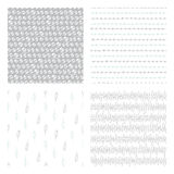 Hand drawn seamless patterns Royalty Free Stock Photo