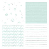 Hand drawn seamless patterns Royalty Free Stock Image