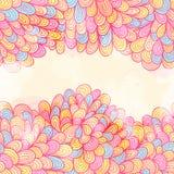 Hand drawn seamless pink invitation card Royalty Free Stock Photo