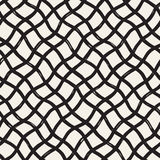 Hand drawn seamless pattern. Allover pattern with ink doodle grunge grid.   Royalty Free Stock Photography