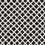 Hand drawn seamless plaid pattern. Allover pattern with ink doodle grunge grid. Graphic background with tartan. Stock Photo