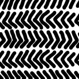 Hand drawn seamless repeating pattern with abstract shapes brush strokes in black and white. For your decoration Stock Photos