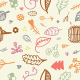 Hand drawn seamless romantic floral pattern. Eps.10 Stock Images
