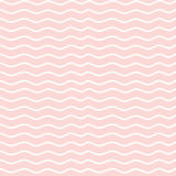 Hand drawn seamless rose and white irregular wave Stock Images