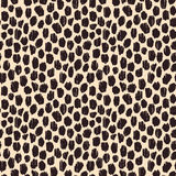 Hand drawn seamless stylized animal skin pattern Stock Images