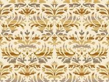 Hand drawn seamless stylized foliage striped damask background vector Stock Image