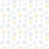 Hand drawn seamless texture with gold dots Royalty Free Stock Photography