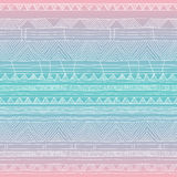 Hand drawn seamless tribal patter with gradient Royalty Free Stock Photography