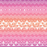Hand drawn seamless tribal patter with gradient Royalty Free Stock Images
