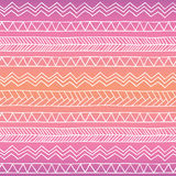 Hand drawn seamless tribal patter with gradient Stock Images