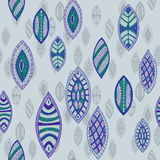 Hand drawn seamless vector abstract ethnic pattern Royalty Free Stock Photo