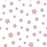 Seamless stars pattern Royalty Free Stock Image