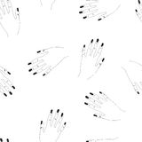 Hand drawn seamless vector pattern with woman arms. For textile, ceramics, fabric, print, cards, wrapping Stock Photo