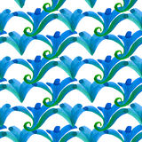 Hand drawn seamless watercolor brush pattern,fashionable sophist Stock Photo