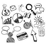 Hand Drawn Search New Business Element Stock Photo
