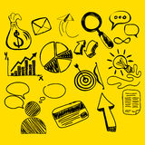 Hand Drawn Search New Business Element Royalty Free Stock Photo