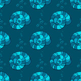 Hand drawn seashells seamless pattern Stock Image
