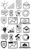 Hand drawn seo doodles / icon set Royalty Free Stock Photo