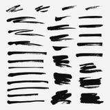 Hand drawn set of brushstroke. Vector objects. Hand drawn set of brushstroke. Vector grunge objects vector illustration