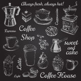 Hand Drawn Set Coffee Vector illustration Royalty Free Stock Image