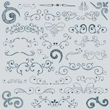 Hand drawn set of design elements Stock Images