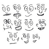 Hand Drawn Set of Funny Stock Photography