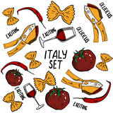 Hand drawn set of Italy Royalty Free Stock Photography