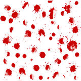 Hand drawn  set with red blood splashes, spots Royalty Free Stock Photography