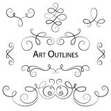 Hand drawn set for a sCrapbooks, for a wedding card, banners Stock Photos