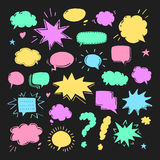 Hand drawn set of speech bubbles Royalty Free Stock Image