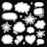 Hand drawn set of speech bubbles Stock Photo