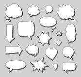 Hand drawn set of speech bubbles Royalty Free Stock Photos