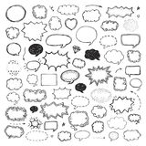 Hand drawn set of speech bubbles Stock Photo