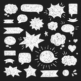 Hand drawn set of speech bubbles Royalty Free Stock Photo