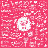 Hand-drawn set of vector elements Stock Image