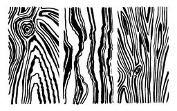 Hand drawn set wood texture royalty free illustration