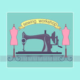 Hand drawn sewing lable Stock Photography