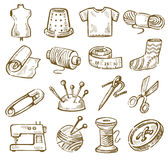Hand drawn sewing Stock Photos