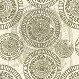 Hand drawn shabby eastern  seamless pattern Stock Photography